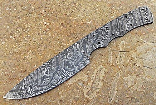 ColdLand Knives Custom Handmade Damascus Steel Full Tang Blank Blade for Knife Making Supplies SB36