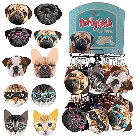 Original Monederos de Gatos y Perros con Expositor Metalico: Amazon.es: Hogar
