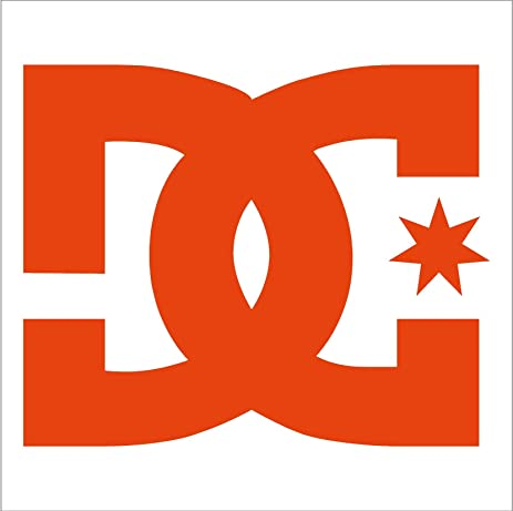 Amazon Com Dc Shoes Logo Car Window Vinyl Decal Sticker 4 Orange