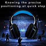 Gaming Headset for PC PS4 XB-ONE, Beexcellent Super Comfort Noise Cancelling Stereo Deep Bass 3.5mm LED Professional Headphone with Mic for Laptop Tablet Mac Smart Phone