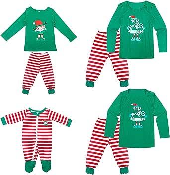 YOFASEN Pijamas Navideños Familiares - Ropa de Dormir para Mujeres Hombres Bebé Niño Invierno Algodón Pijamas Dos Piezas, Manga Larga + Pantalones: Amazon.es: Ropa y accesorios