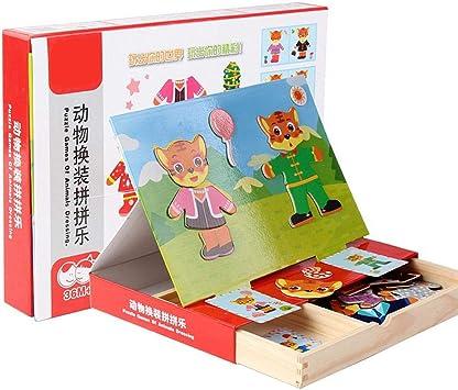 Zerodis Rompecabezas magnéticos, Pegatinas magnéticas de Animales Juegos de Mesa Juguetes educativos de Aprendizaje Regalo para Niños pequeños 3 4 5 años(#3): Amazon.es: Juguetes y juegos