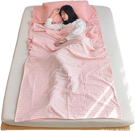 Compartimento de algodón Sucio Saco de Dormir Hotel Viaje Hotel sábanas lavadas Bolsa de algodón de algodón: Amazon.es: Deportes y aire libre