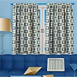 Mikihome 2 Panel Curtains Card Suits Hearts des s Clubs Gamings Addiction Linen Window Curtains Grommet Top 72'' W x 84'' L