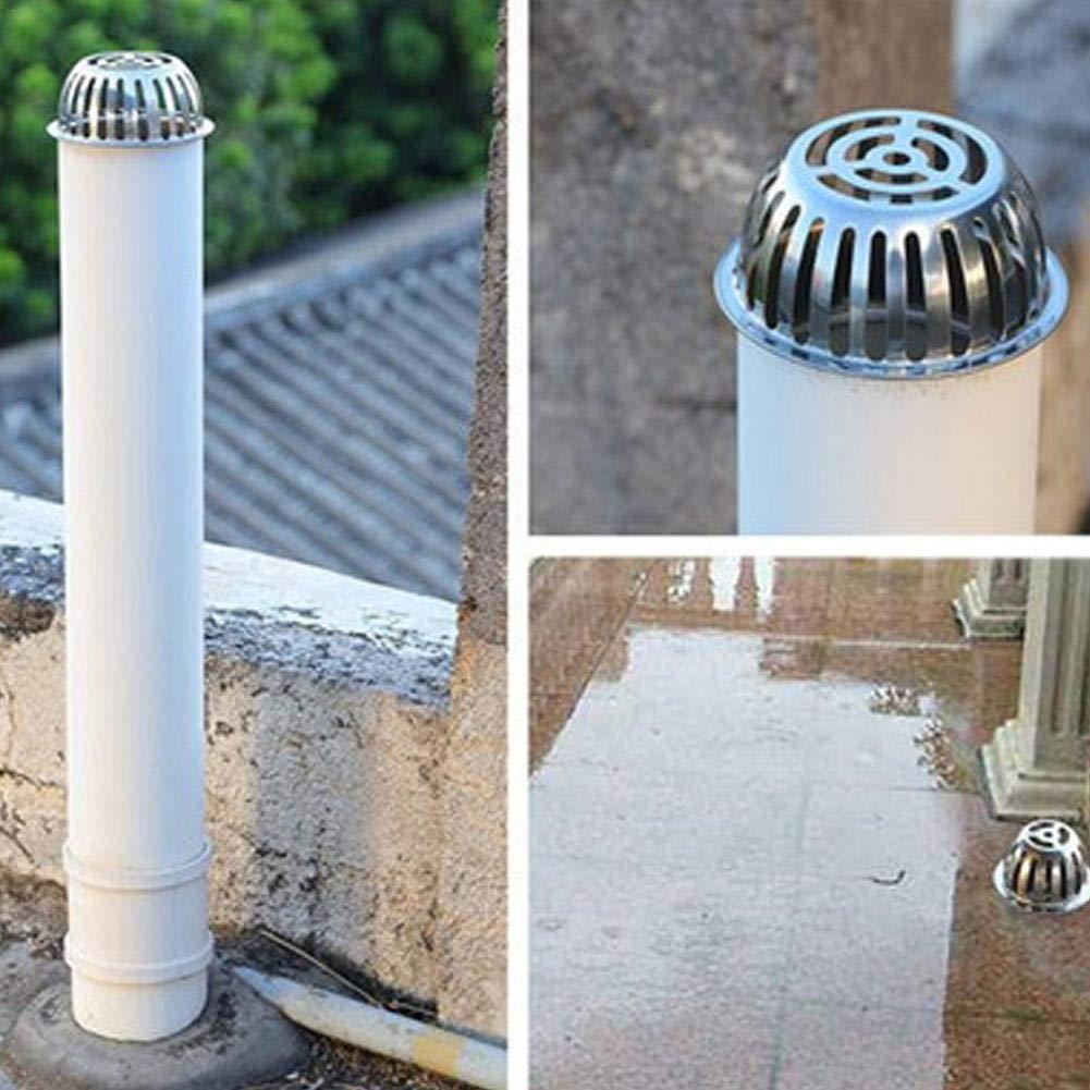 304 Filtro a Pavimento per balconi in Acciaio Inox Tipo di Carta Tetto Tondo per Esterno Bloccaggi Fogli Dissipatore di detriti