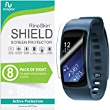 RinoGear Samsung Gear Fit2 Screen Protector [8-Pack] Gear Fit 2 Flexible HD Crystal Clear Anti-Bubble Unlimited Replacement Film