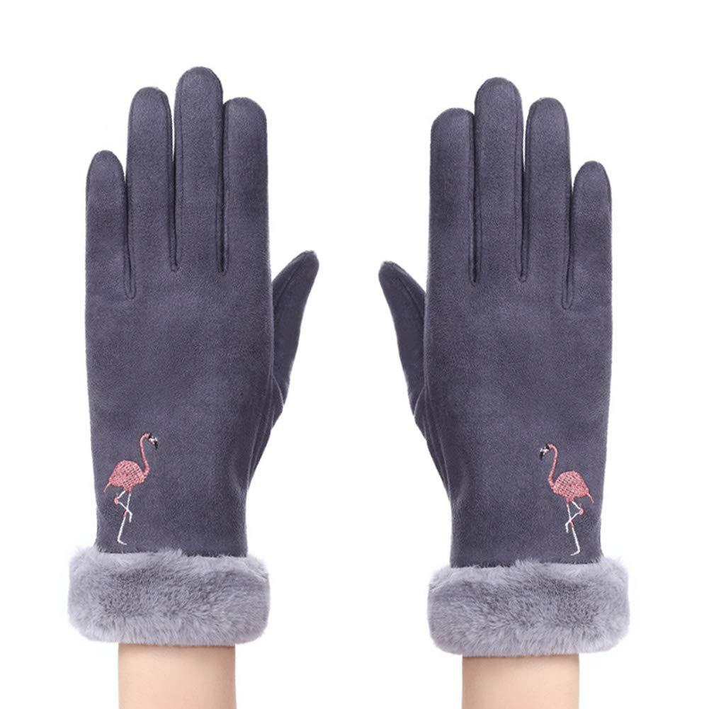 Monbedos 1PC Gants Chauds Gants épais Gants d'hiver Gants Hiver Chaud Gants en Peluche Gants de Plein air pour Hommes Femmes 23 * 8cm