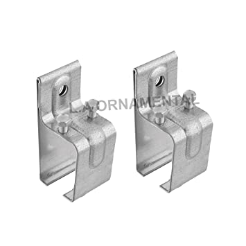 Galvanized Steel Track Sliding Barn Door Single Box Rail Splice Bracket  Hanger Bracket, Union Bracket