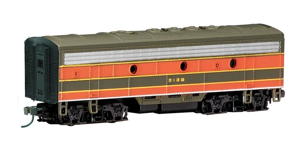 Bachmann Industries EMD F7-B Diesel Locomotive DCC Equipped Great Northern Train Car, Green/Orange, N Scale 63852