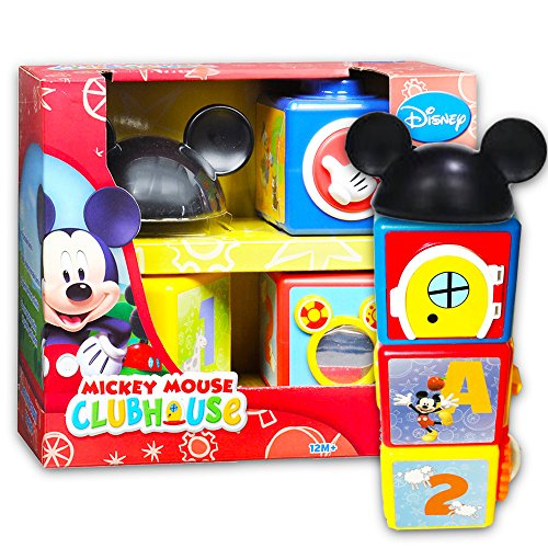 Mickey Mouse 123 - Disney Mickey Mouse Clubhouse Activity Story Blocks Set (Disney Learning Toys for Toddlers Babies)