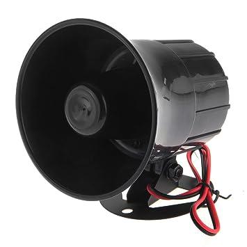 Fuerte sirena 12V con 6 tonos para alarma de coche Vehiculo ...