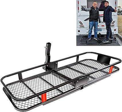 Btthwr Tray Hitch Cargo Carrier 660 Lbs Kapazität 1 1 4 2 Zoll Adapter Shank Bike Rack Adapter Küche Haushalt