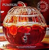 Circleware Pumpkin Clear Glass Beverage Dispenser 1.92 Gallons