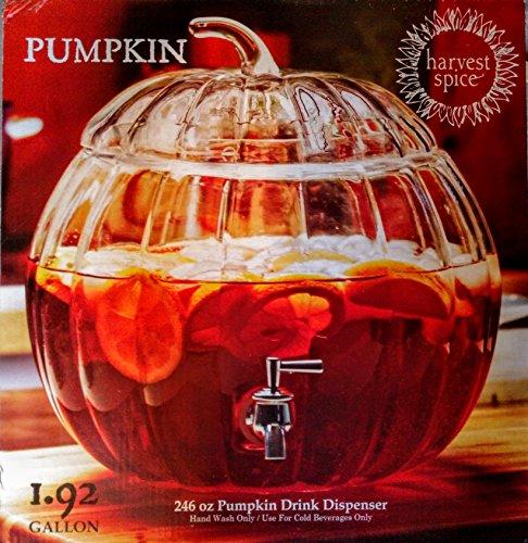 Circleware Pumpkin Clear Glass Beverage Dispenser 1.92 -