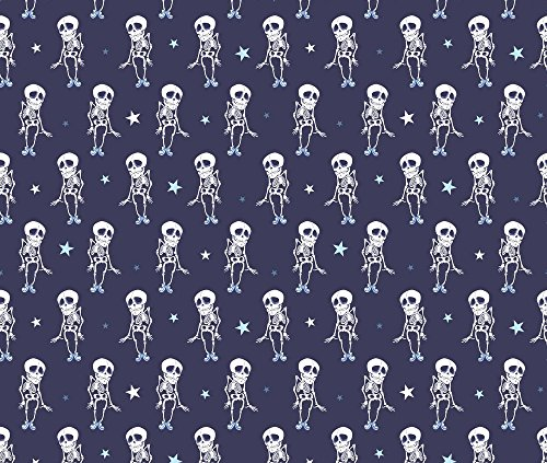 Skeleton Costume Skull Ruler (Costume Fabric Dancing Skeletons Halloween Seamless Pattern. Costume by Oksancia Printed on Organic Cotton Knit Ultra Fabric by the Yard by Spoonflower)
