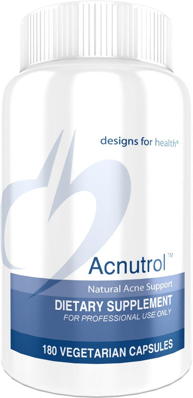 Designs for Health - Acnutrol - 2500mg Pantothenic Acid + 50000mg Vitamin A Skin Support Formula,180 Capsules