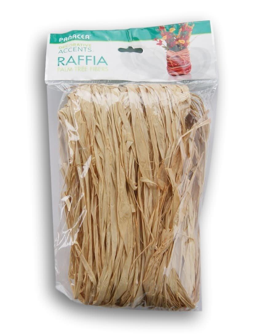 Panacea Tan Raffia Natural Palm Tree Fibers 61 Cubic Inches