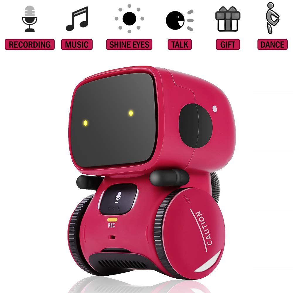 Kids Robot Toy, Smart Talking Robots, Gift for Boys and Girls Age 3+, Intelligent partner and teacher, with Voice Controlled and Touch Sensor, Singing, Dancing, Repeating by 98K (Image #1)