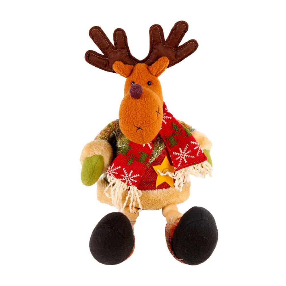 Babbo Animato pupazzo Natale di Sunnymi 43cm peluche alce neve lTK1JFc3
