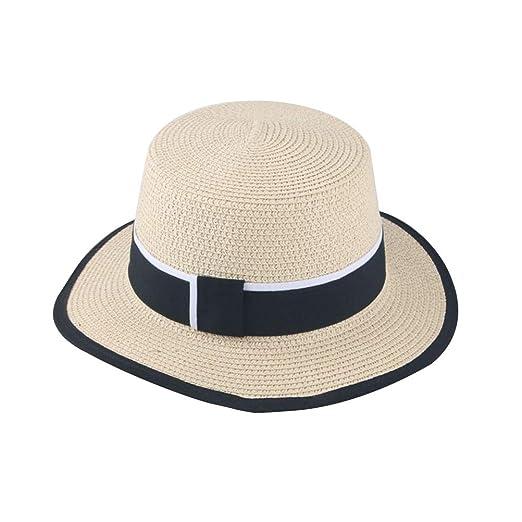 FENICAL Sombrero de Paja para niños Sombrero Derby para niñas ...
