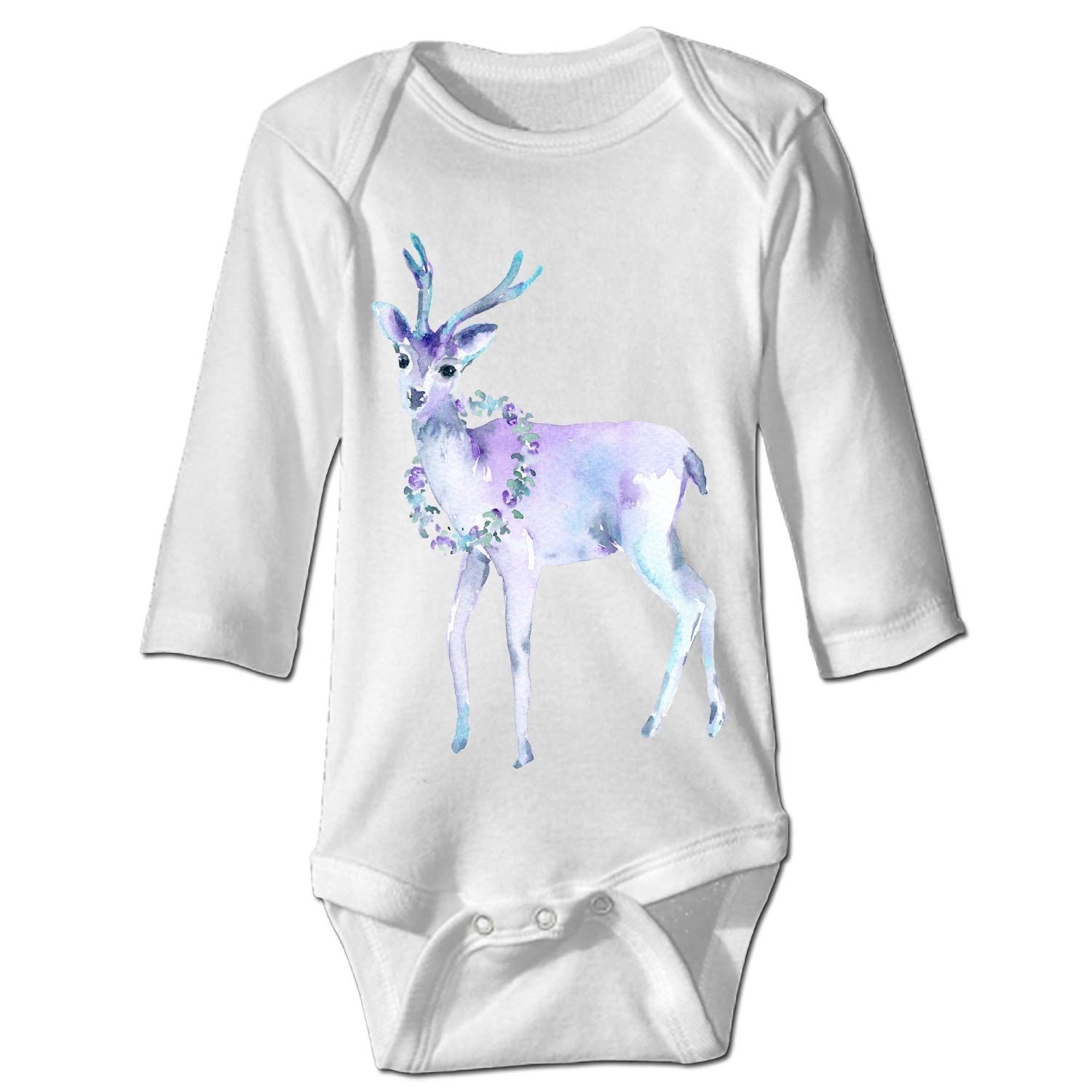 Imiss Floral Deer Baby Girl Clothes Long Sleeve Onesies Romper Home Outfit