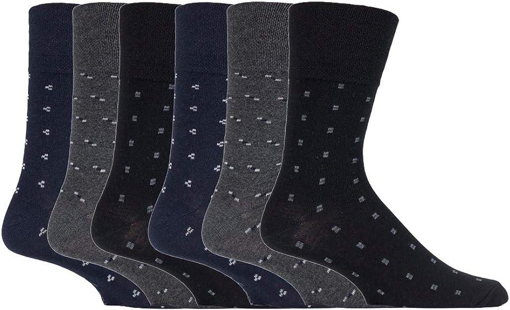 12 Pour Hommes Gentle Grip ® Riche Coton Non Élastique Chaussettes UK 6-11