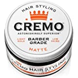 Cremo Premium Barber Grade Hair Styling Matte Cream, Light Hold, Low Shine, 4 Oz