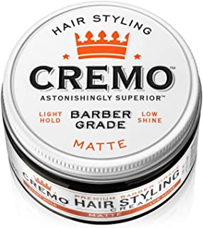 product image for Cremo Premium Barber Grade Hair Styling Matte Cream, Light Hold, Low Shine, 4 Oz