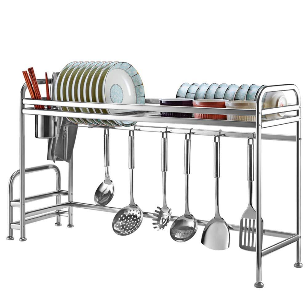 Stainless Steel Kitchen Rack, Multi-Function Sink Drain Rack, dishware, Tableware, Storage Rack, Adjustable Base, Load-Bearing 50KG by Kitchen shelf