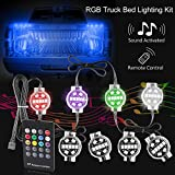 #10: LED Truck Bed Lights 8PCS RGB Truck Bed Light Kit with Wireless Controller, Autoneer Waterproof Sound Activated Multicolor Lighting Switch Fuse Splitter Cable for Pickup RV SUV Vans Cargo Boats