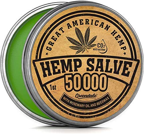 Hemp Oil Salve for Pain Relief - 50,000Mg - Fast Acting & Natural - Knee, Muscle, Joint, Neck & Back Pain Relief - Premium Hemp Oil Made in USA - Anti Inflammatory Hemp Balm - MAX Efficacy - No GMO