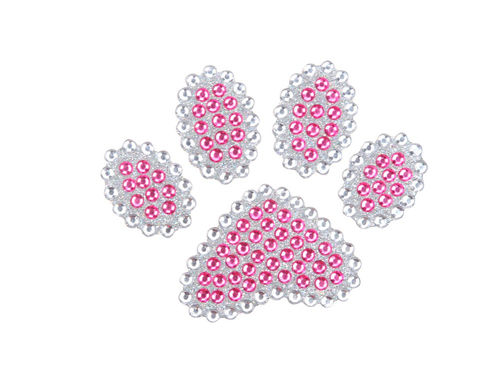 Cute Animal Paw Pink Gem Crystals Car Truck SUV Home Office Window Decal Sticker Cling Bling LA Auto Gear