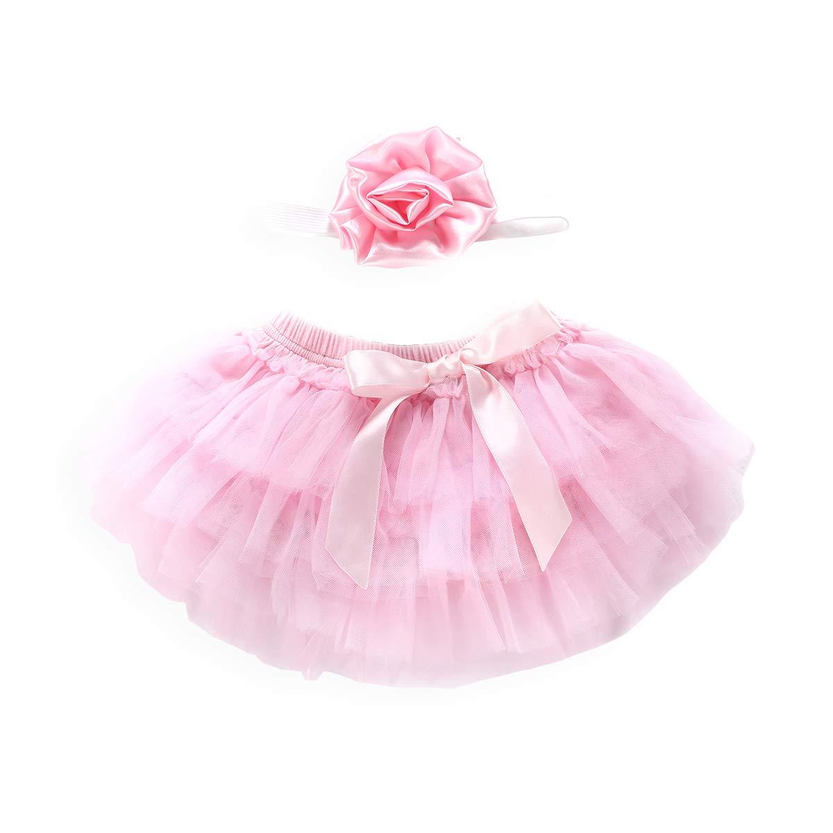 Headband Unmega Baby Girl Tulle Bloomers Tutu Newborn Ruffle Diaper Cover Infant Bowknot Skirt