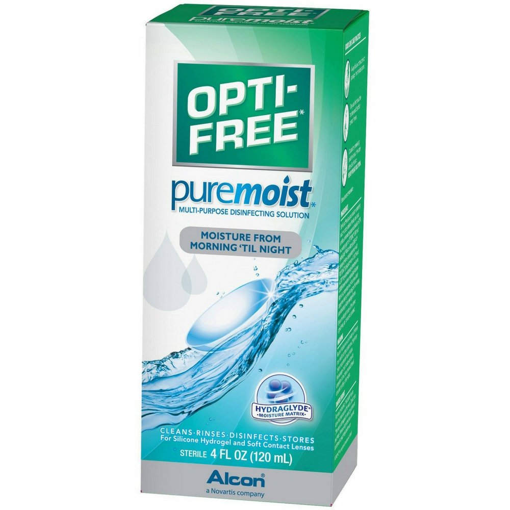 OPTI-FREE Pure Moist Multi-Purpose Disinfecting Solution 4 oz (Pack of 8)