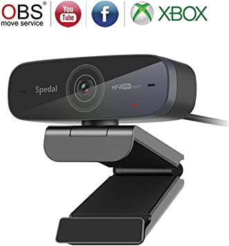 HD Streaming Gaming Webcam with Dual Microphone for Video Chatting