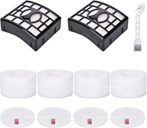 2 HEPA + 4 Foam & Felt Filters for Shark Rotator DuoClean Powered Lift Away Speed Vacuum NV680, NV681, NV682, NV683, NV800, NV801, NV803, UV810, Compare to Part # XFF680 &XHF680 Replacement filter set