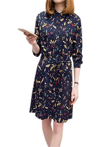 DaBag -  Vestito  - Camicia  - Maniche lunghe  - Donna Blau 48