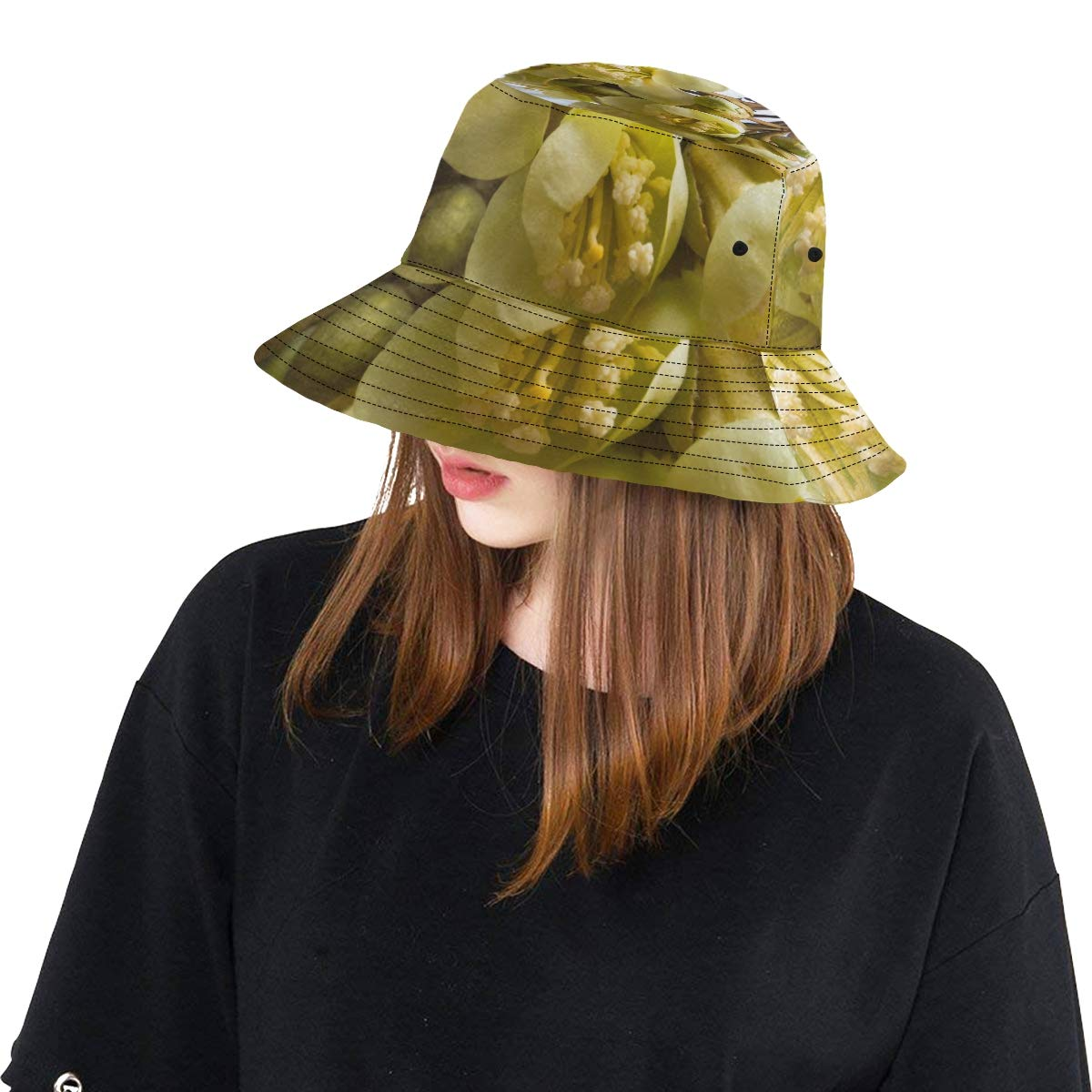 Durian Flower Beautiful Summer Unisex Fishing Sun Top Bucket Hats for Kid Teens Women and Men with Packable Fisherman Cap for Outdoor Baseball Sport Picnic