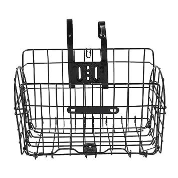 Forfar plegable Alambre de metal de la cesta para bicicletas Moto delantero del bolso Colgando trasera