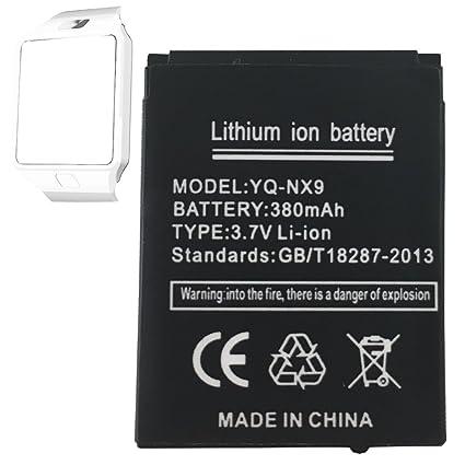 Smart Watch batería dz09 batería de litio recargable con 380 mAh Capacidad