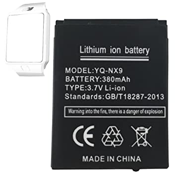 Smart Watch batería dz09 batería de litio recargable con 380 mAh ...