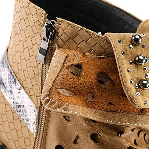 Binggong Chaud Talon Marron Compensé Look Chaussures Épais Haute Sexy Bottines Qualité Plateforme Femme Classiques Antidérapant Bottes 5ESq7H0