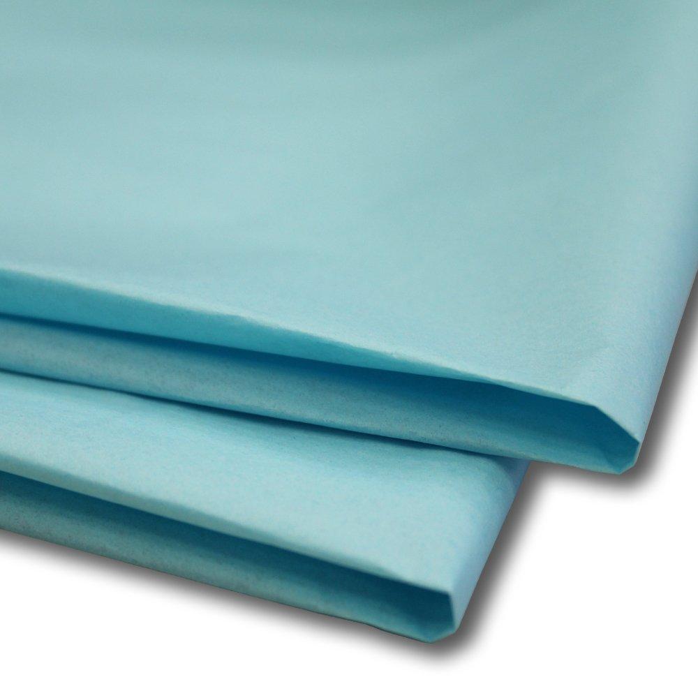 100 x fogli carta velina / carta regalo / confezione da regalo 50 x 75 cm Turquoise Swoosh Supplies