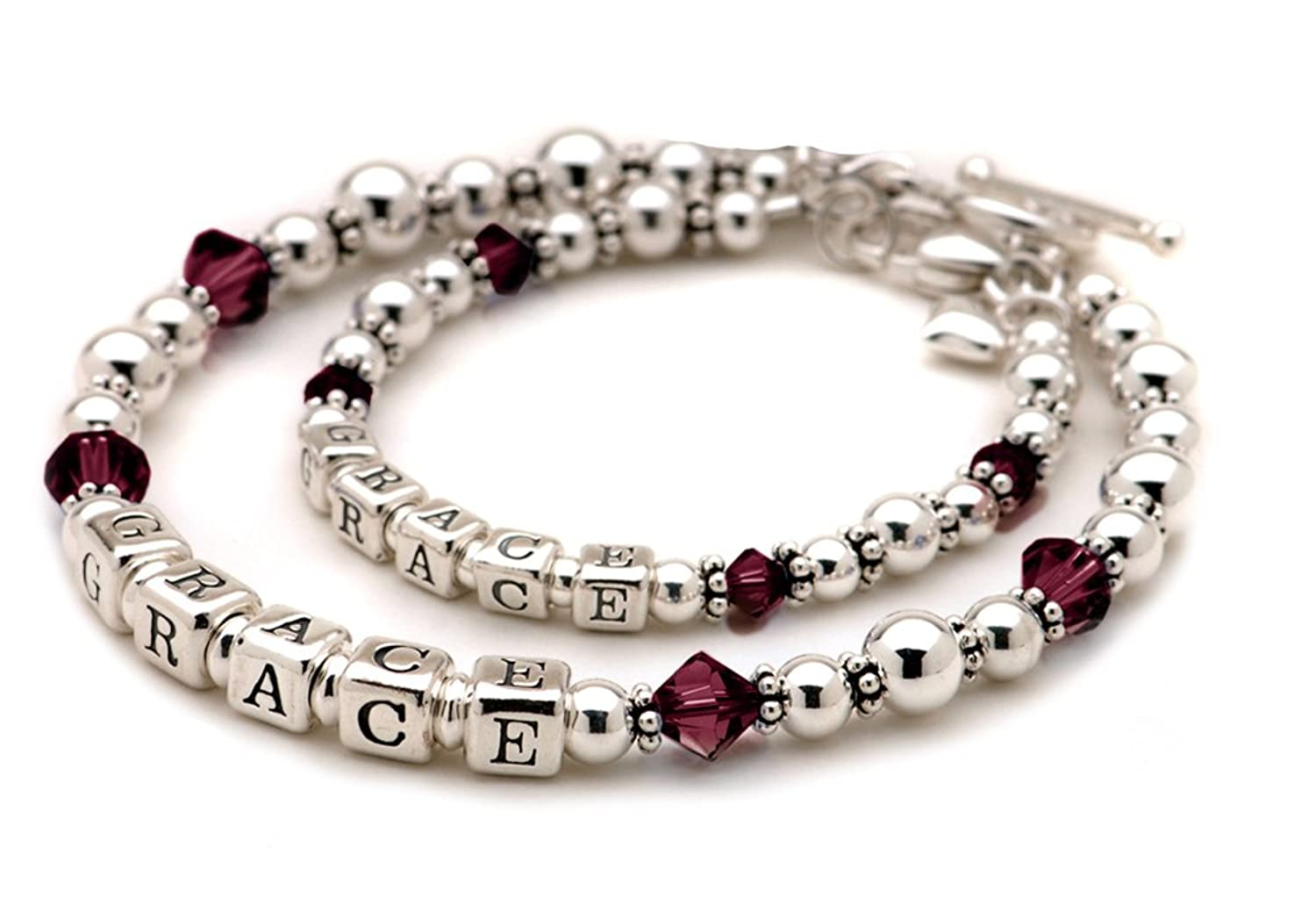Famous Amazon.com: Sterling Silver Personalized Mother Daughter Bracelets  EK42