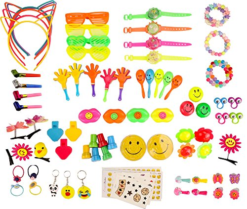 (Party Favors for Kids Girls Party Favors Toys Birthday Party Supplies, 120 PCS Assortment Bulk Toys)