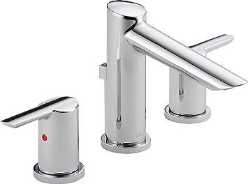 Delta Faucet 3561 MPU DST Compel Widespread Bath Faucet With Metal Pop Up