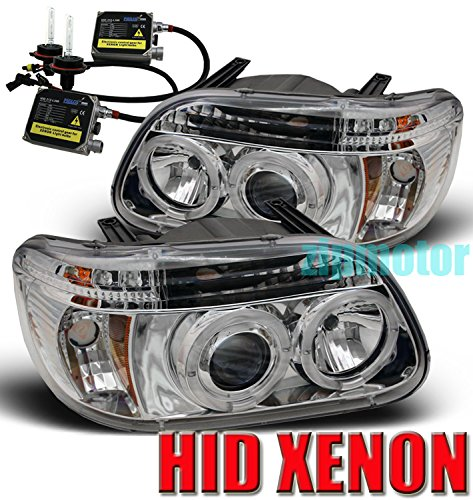 1995-2001 Ford Explorer / 1997 Mercury Mountaineer Halo LED Projector Headlights with 6000K HID Conversion Kit - Chrome