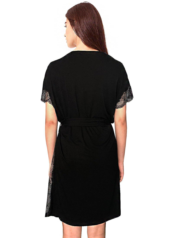 08167254093 Blooming Jelly Womens Pyjama Spaghetti Strap Off-Shoulder Lace-Stitching  Sleepwear Contrast Color Silky Loose Soft Breathing Pyjamas Set   Amazon.co.uk  ...