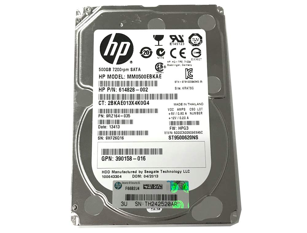 """*Lot of 20* HP 614828-002 500GB ST9500620NS 2.5/""""SATA 6Gb//s 7.2K HDD For Server"""