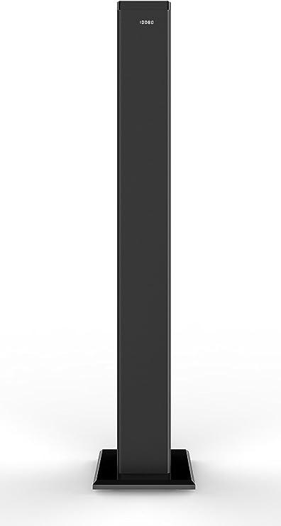 Brigmton BTW-60 - Torre de sonído Digital con Amplificador Digital, Negro